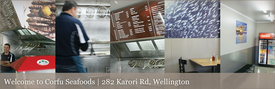 Welcome to Corfu Seafoods | 282 Karori Road, Wellington
